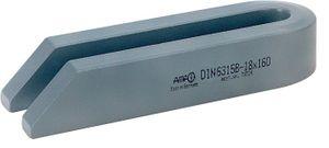 AMF Gabelspanneisen DIN6315-B 18xL.250mm abgeschrägt f.Schraube M16,M18 – Bild 1