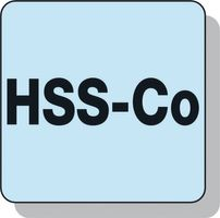 PROMAT Bohrnutenfräser Typ N D.14mm HSS-E Co8 2Schneiden lang – Bild 3