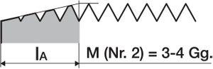 PROMAT Handgewindebohrersatz DIN352 M18 ISO2 (6H) 3tlg. – Bild 3