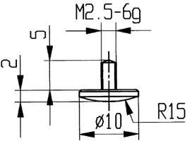 KÄFER Messeinsatz D.10mm gewölbt Radius 15 Stahl f.Messuhren – Bild 1