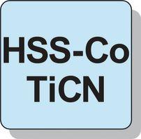 PROMAT Radiusschaftfräser D.8mm HSS-E Co8 TiCN 2Schneiden extra kurz – Bild 3