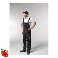 TERRATREND Herrenlatzhose Gr.60 dunkelgrau/schwarz/orange 65%PES/35%CO m.10Taschen – Bild 1