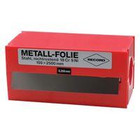 RECORD Metallfolie Dicke 0,05mm L.2500mm B.150mm VA – Bild 2