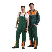 ASATEX Forstsicherheitsjacke Gr.58/60 grün/orange reißfest 50%Nylon/50%CO – Bild 2