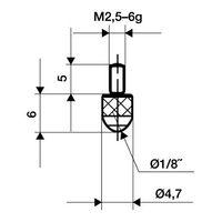 KÄFER Messeinsatz D.1,5mm L.16mm Stift Stahl f.Messuhren – Bild 2