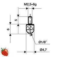 KÄFER Messeinsatz D.1,5mm L.16mm Stift Stahl f.Messuhren – Bild 1