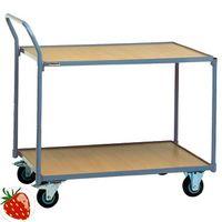 PROMAT Tischwagen m.2Böden Trgf.250kg L.1000xB.600mm Vollgummireifen – Bild 1