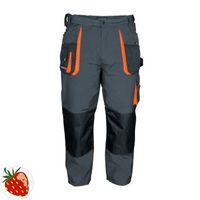 TERRATREND Herrrenhose Gr.52 dunkelgrau/schwarz/orange 65%PES/35%CO Zollstocktasche – Bild 1
