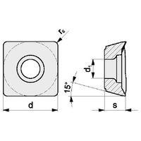 10x PROMAT Wendeschneidplatte SDMT 120508SR-M Sorte NWP26 (P15-P30) mittel – Bild 4
