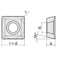 10x PROMAT Wendeschneidplatte SOMT09T304-NR Sorte NWP40 (P25-P40) – Bild 3