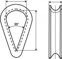 50x Kausche m.tiefer Rille Rillen-W.10mm Nenn-Gr./Seil 9mm f.Hanfseile – Bild 2