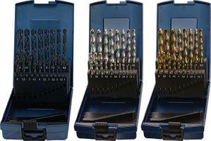 PROMAT Spiralbohrersatz DIN338 Typ N 1-10,5mm 0,5mm HSS-Co 24tlg.Ku.-kassette – Bild 1