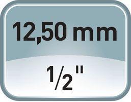 PROMAT Steckschlüsselsatz 55 tlg. 1/4 und 1/2 Zoll f.4KT-Antrieb – Bild 3