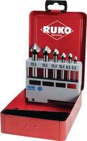 RUKO Kegelsenkersatz DIN335-C 90Grad D.6,3-20,5mm HSS-Co 3Schneiden 6tlg. – Bild 1