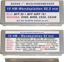 BARKE HM-Hobelwendemesser L.80,5mm – Bild 1