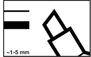 10x EDDING Permanentmarker 3300 Keilspitze sw. – Bild 2