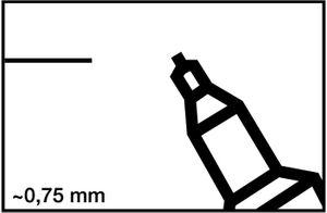 10x EDDING Permanentmarker 404 Rundspitze sw. – Bild 2