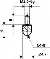 KÄFER Messeinsatz L.6mm Kugel Stahl f.Messuhren – Bild 1