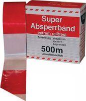 Absperrband im Spenderkarton rot/weiß 500 m – Bild 1
