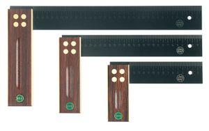 ECE Präzisionswinkel L.350mm Palisanderholz gelaserte mm-Skala – Bild 1