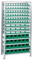 Steck-Anbauregal verz. H2000xB1000xT400mm 14 Böden Lagerboxen 90xGr.3 15xGr.4 tr – Bild 1