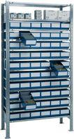 Steck-Anbauregal verz. H2000xB1000xT400mm 12 Böden Regalboxen 30xL400mm blau 30x – Bild 1