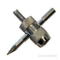 Silverline Reifenventil-Reparaturwerkzeug Vierweg