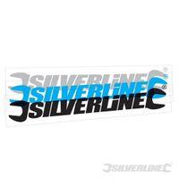 Silverline Fensteraufkleber 400 mm, cyan, außen