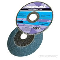 Silverline Zirkonium- Fächerscheibe 100mm, 60er-Körnung