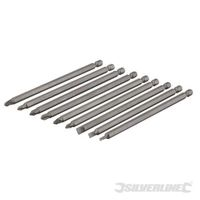 Silverline Extra-lange Schraubendreherbits, 9-tlg. Satz 150 mm