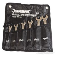 Silverline Doppelmaulschlüssel, 6-tlg. Satz 6 - 17 mm