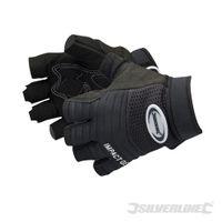 Silverline Handschuhe mit Gel-Polstern Einheitsgröße, fingerlos