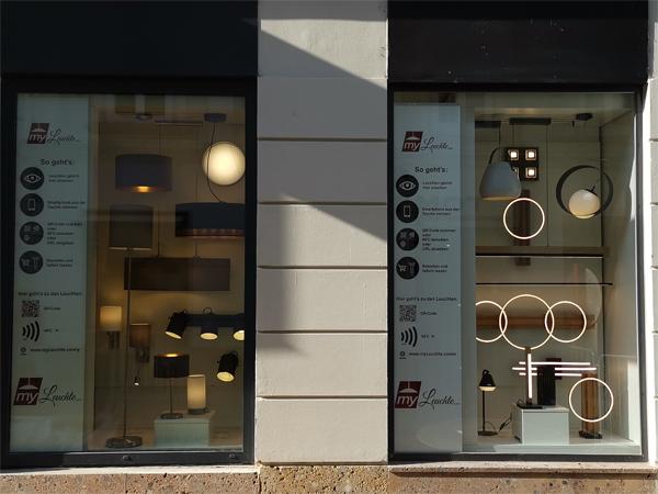 Shoppingfenster Y und E