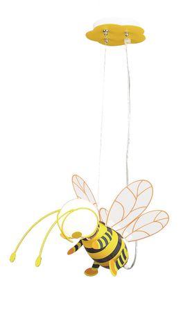 Kinderzimmer Pendelleuchte Bee aus Kunststoff Kunststoff bunt B:20cm H:80cm