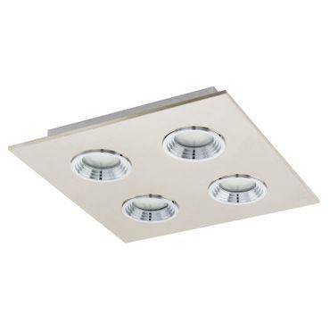 Eglo Wandleuchte/Deckenleuchte LED SABBIO 1 nickel-matt, chrom, GX53 max. 4X7W