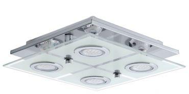 Deckenleuchte GU10-LED CHROM/SATINIERT  CABO