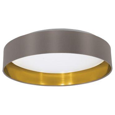 EGLO Maserlo Leuchtmittel austauschbar, Textil cappuccino, gold Ø 40,5cm