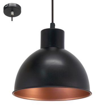 Eglo Hängeleuchte TRURO 1 schwarz, kupfer, E27 max. 1X60W