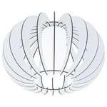 EGLO Deckenleuchte STELLATO 2 Stahl, weiss / Holz, Glas, weiss 1X60W H:27,5 Ø 40cm