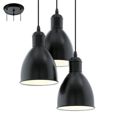 Eglo Hängeleuchte PRIDDY schwarz, weiss, E27 max. 3X60W
