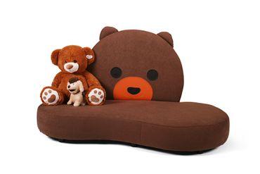 Kindersofa mit Teddy-Motiv Kuschelinsel KINIC