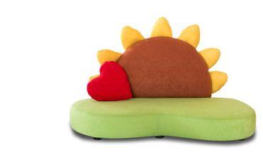 Größenvergleich für Kindersofa Sunny Little Couch für Kinderzimmer KINIC Sonnenblume