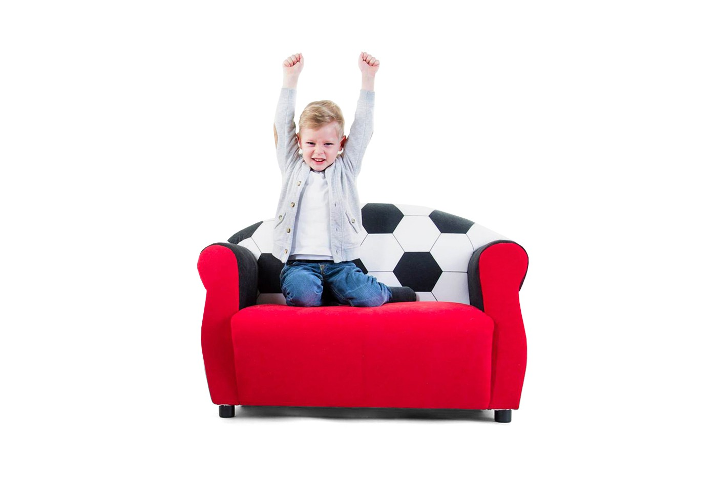 kindersofa f r fu ball fans kindersofas. Black Bedroom Furniture Sets. Home Design Ideas