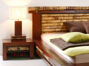 Bambus Nachttischlampe Eco – Bild 4