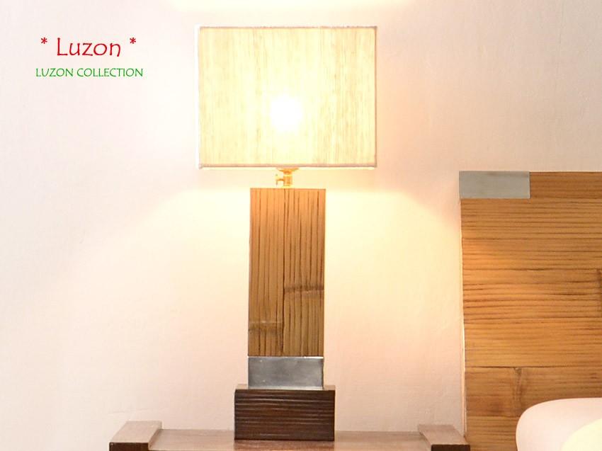 Bambus Nachttischlampe LUZON