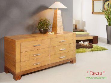 Bambus Kommode TAWAU mit 6 Schubladen – Bild 2