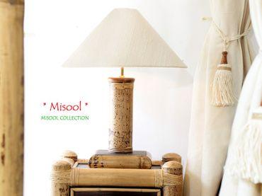 Bambus Nachttischlampe Misool