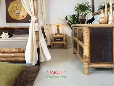Bambus Nachttischlampe Misool – Bild 4