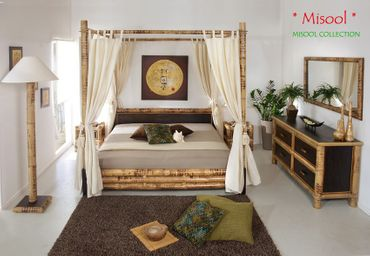 Wandspiegel Bambus Misool 150x75 cm – Bild 4