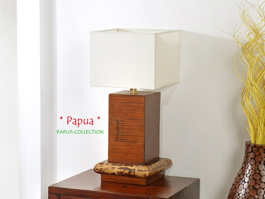 bambus nachttischlampe papua. Black Bedroom Furniture Sets. Home Design Ideas